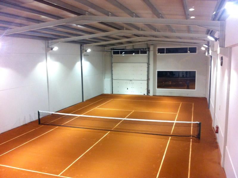 Nave prefabricada gimnasio Barbastro (Huesca) | Interior nocturno