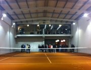 Nave prefabricada gimnasio Barbastro (Huesca) | Interior pista