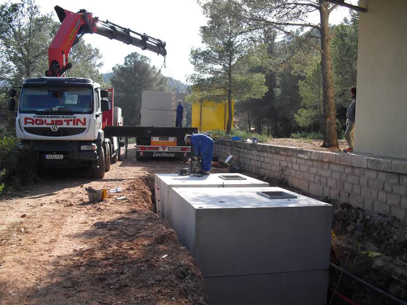 Depósitos modulares hormigón prefabricado