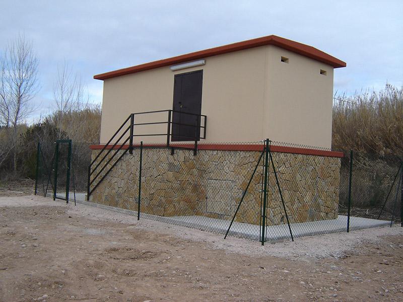 Caseta instalaciones hormigón prefabricado
