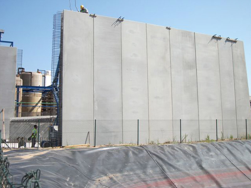 Muro doble prefabricado hormigón